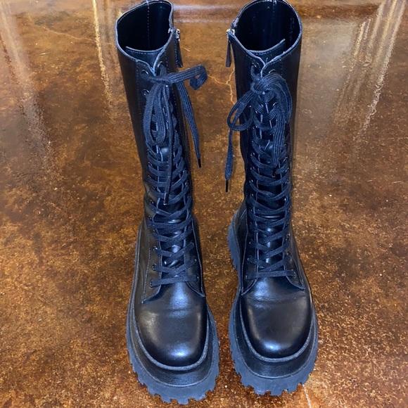 Chunky Zara lug sole boots